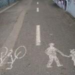 Fahrradfahren nur auf dem Kopf erlaubt