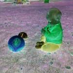Helena mit Ball (Negativ)